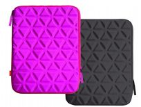 iLuv Belgique Waffle Foam Padded Sleeve for iPad/Kindle Fire HD Black Pink